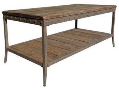 TRENTON-COFFEE TABLE-DISTRESSED PINE