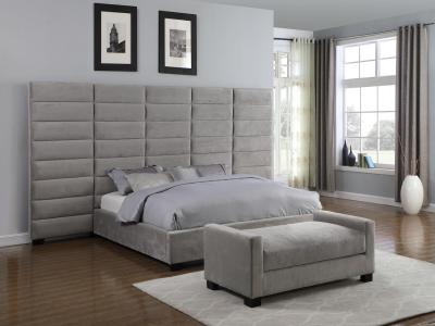 Turin Fabric Panel Bed (Queen) by Midha's Furniture Serving Brampton, Mississauga, Etobicoke, Toronto, Scraborough, Caledon, Cambridge, Oakville, Markham, Ajax, Pickering, Oshawa, Richmondhill, Kitchener, Hamilton and GTA area