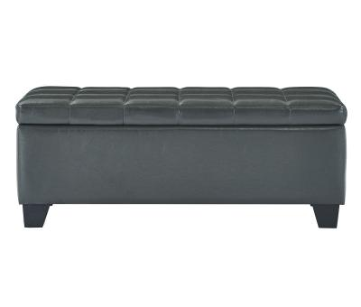 WINSTON-STORAGE OTTOMAN-GREY by Midha's Furniture Serving Brampton, Mississauga, Etobicoke, Toronto, Scraborough, Caledon, Cambridge, Oakville, Markham, Ajax, Pickering, Oshawa, Richmondhill, Kitchener, Hamilton and GTA area