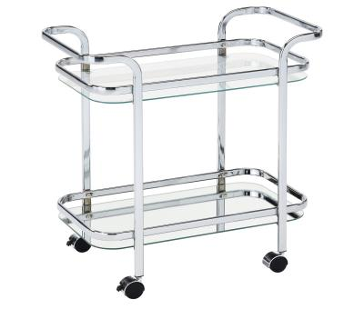 ZEDD-2-TIER BAR CART-CHROME