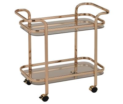 ZEDD-2-TIER BAR CART-GOLD by Midha's Furniture Serving Brampton, Mississauga, Etobicoke, Toronto, Scraborough, Caledon, Cambridge, Oakville, Markham, Ajax, Pickering, Oshawa, Richmondhill, Kitchener, Hamilton and GTA area