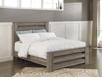Rustic Style Zelen Bed in Warm Grey Vintage Finish by Midha's Furniture Serving Brampton, Mississauga, Etobicoke, Toronto, Scraborough, Caledon, Cambridge, Oakville, Markham, Ajax, Pickering, Oshawa, Richmondhill, Kitchener, Hamilton and GTA area