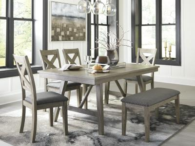 Aldwin 6 PC Dining Set by Ashley by Midha's Furniture Serving Brampton, Mississauga, Etobicoke, Toronto, Scraborough, Caledon, Cambridge, Oakville, Markham, Ajax, Pickering, Oshawa, Richmondhill, Kitchener, Hamilton and GTA area