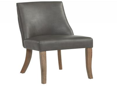 ALTON-SIDE CHAIR,FAUX LEATHER-GREY