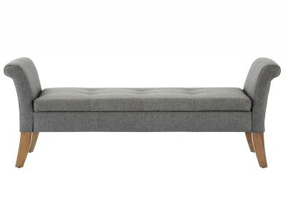 AUDREY-STORAGE BENCH-GREY