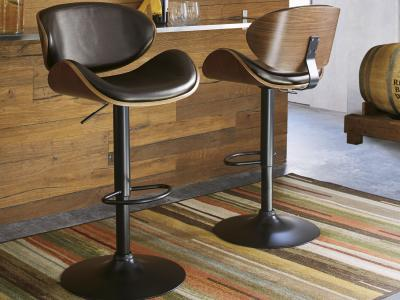 Ballatier Bar Stool (Brown) by Midha's Furniture Serving Brampton, Mississauga, Etobicoke, Toronto, Scraborough, Caledon, Cambridge, Oakville, Markham, Ajax, Pickering, Oshawa, Richmondhill, Kitchener, Hamilton and GTA area