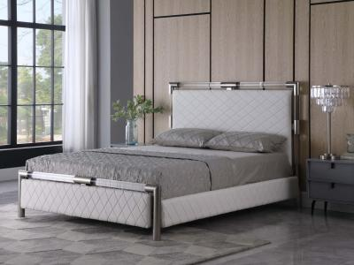 Modern Barcelona Queen Size Trendy Bed by Midha's Furniture Serving Brampton, Mississauga, Etobicoke, Toronto, Scraborough, Caledon, Cambridge, Oakville, Markham, Ajax, Pickering, Oshawa, Richmondhill, Kitchener, Hamilton and GTA area