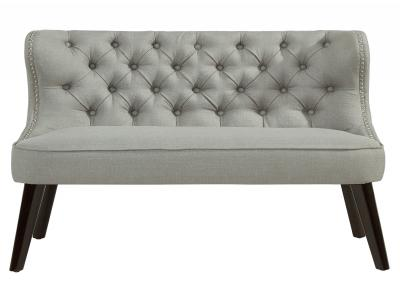 BISCOTTI-DOUBLE BENCH-LIGHT GREY