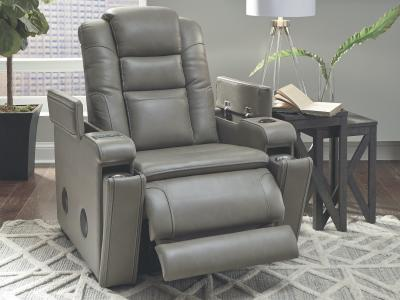 Ashley Boerna Genuine Leather Power Recliner with Adjustable Headrest by Midha's Furniture Serving Brampton, Mississauga, Etobicoke, Toronto, Scraborough, Caledon, Cambridge, Oakville, Markham, Ajax, Pickering, Oshawa, Richmondhill, Kitchener, Hamilton and GTA area
