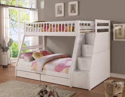 bunk bed white--