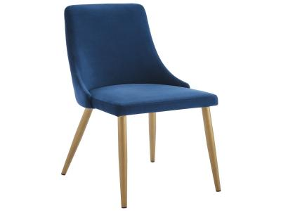 CARMILLA-SIDE CHAIR-BLUE by Midha's Furniture Serving Brampton, Mississauga, Etobicoke, Toronto, Scraborough, Caledon, Cambridge, Oakville, Markham, Ajax, Pickering, Oshawa, Richmondhill, Kitchener, Hamilton and GTA area