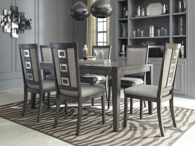 Signature Design by Ashley Chadoni 5 PC Dining Set in smoky gray by Midha's Furniture Serving Brampton, Mississauga, Etobicoke, Toronto, Scraborough, Caledon, Cambridge, Oakville, Markham, Ajax, Pickering, Oshawa, Richmondhill, Kitchener, Hamilton and GTA area