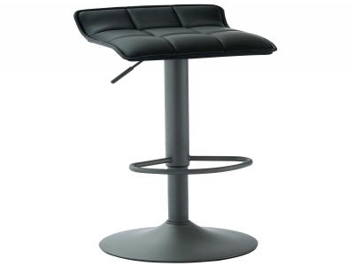 COMET-GAS LIFT STOOL-BLACK FAUX LEATHER