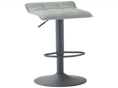 COMET-GAS LIFT STOOL-GREY FAUX LEATHER