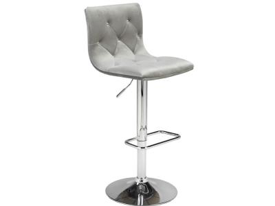 Crystal Grey Velvet Adjustable Stool by Midha's Furniture Serving Brampton, Mississauga, Etobicoke, Toronto, Scraborough, Caledon, Cambridge, Oakville, Markham, Ajax, Pickering, Oshawa, Richmondhill, Kitchener, Hamilton and GTA area