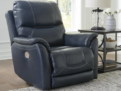 Ashley Dellington Genuine Leather Power Recliner With One-Touch Power Control by Midha's Furniture Serving Brampton, Mississauga, Etobicoke, Toronto, Scraborough, Caledon, Cambridge, Oakville, Markham, Ajax, Pickering, Oshawa, Richmondhill, Kitchener, Hamilton and GTA area