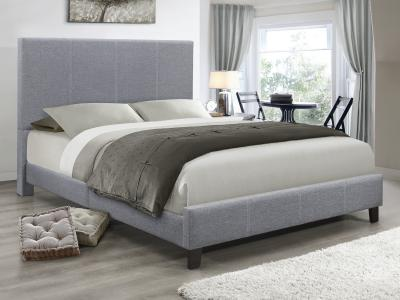 IFDC Double Grey Fabric Bed by Midha's Furniture Serving Brampton, Mississauga, Etobicoke, Toronto, Scraborough, Caledon, Cambridge, Oakville, Markham, Ajax, Pickering, Oshawa, Richmondhill, Kitchener, Hamilton and GTA area