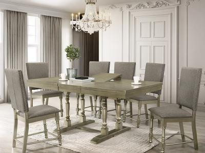 Eden 7 PC Dining Set by Midha's Furniture Serving Brampton, Mississauga, Etobicoke, Toronto, Scraborough, Caledon, Cambridge, Oakville, Markham, Ajax, Pickering, Oshawa, Richmondhill, Kitchener, Hamilton and GTA area