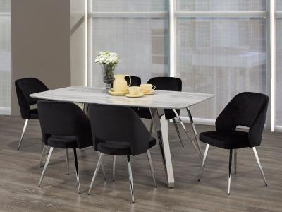 Brassex design ELLA 5 PC Dining Set by Midha's Furniture Serving Brampton, Mississauga, Etobicoke, Toronto, Scraborough, Caledon, Cambridge, Oakville, Markham, Ajax, Pickering, Oshawa, Richmondhill, Kitchener, Hamilton and GTA area