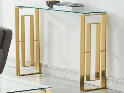 EROS-CONSOLE TABLE-GOLD by Midha's Furniture Serving Brampton, Mississauga, Etobicoke, Toronto, Scraborough, Caledon, Cambridge, Oakville, Markham, Ajax, Pickering, Oshawa, Richmondhill, Kitchener, Hamilton and GTA area