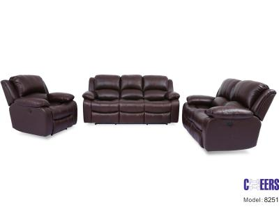 Genuine Leather Power Recliner Sofa Only by Midha's Furniture Serving Brampton, Mississauga, Etobicoke, Toronto, Scraborough, Caledon, Cambridge, Oakville, Markham, Ajax, Pickering, Oshawa, Richmondhill, Kitchener, Hamilton and GTA area
