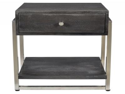 JONAS-ACCENT TABLE-DARK GREY