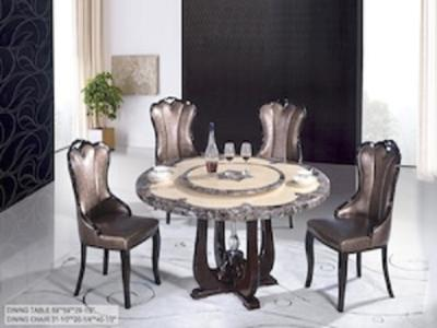 krystal Marble 5 pc Dinette  Table + 4 Chairs