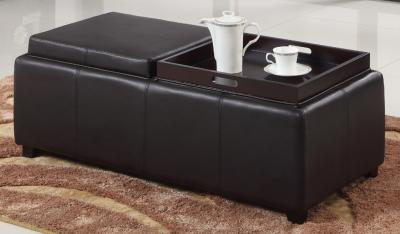 MANHATTAN II-DOUBLE TRAY OTTOMAN-BROWN