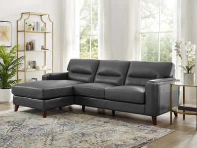 Amax Leather Miami Sectional Modern Sofa in Genuine Leather by Midha's Furniture Serving Brampton, Mississauga, Etobicoke, Toronto, Scraborough, Caledon, Cambridge, Oakville, Markham, Ajax, Pickering, Oshawa, Richmondhill, Kitchener, Hamilton and GTA area