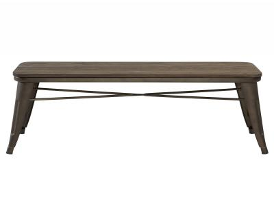 MODUS-BACKLESS DOUBLE BENCH-GUNMETAL