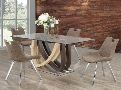 Glass Top Noah 5 PC Dining Set by Midha's Furniture Serving Brampton, Mississauga, Etobicoke, Toronto, Scraborough, Caledon, Cambridge, Oakville, Markham, Ajax, Pickering, Oshawa, Richmondhill, Kitchener, Hamilton and GTA area