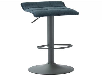 PLUTO-GAS LIFT STOOL-BLUE/GREY FABRIC