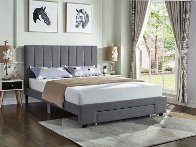 IFDC Modern Queen Storage Grey Fabric Platform Bed by Midha's Furniture Serving Brampton, Mississauga, Etobicoke, Toronto, Scraborough, Caledon, Cambridge, Oakville, Markham, Ajax, Pickering, Oshawa, Richmondhill, Kitchener, Hamilton and GTA area
