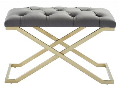 RADA-SINGLE BENCH-GREY/GOLD