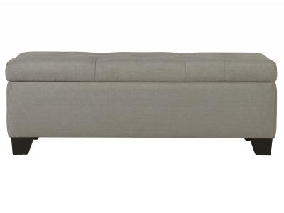 SARAH-STORAGE OTTOMAN-LIGHT GREY