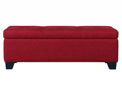 SARAH-STORAGE OTTOMAN-RED