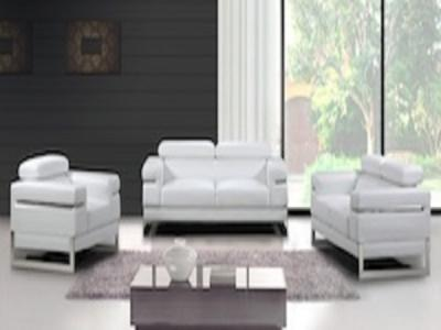 sicily bonded  white Living Rooms Modern
