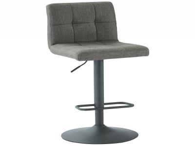 SORB-GAS LIFT STOOL-GREY FABRIC