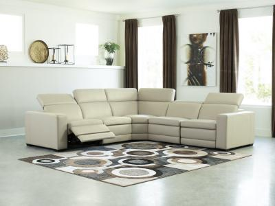 Texline Power Recliner Sectional W/Adjustable Head Rest by Midha's Furniture Serving Brampton, Mississauga, Etobicoke, Toronto, Scraborough, Caledon, Cambridge, Oakville, Markham, Ajax, Pickering, Oshawa, Richmondhill, Kitchener, Hamilton and GTA area