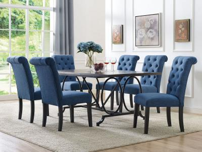 Brassex design Tinga 7 PC Dining Set by Midha's Furniture Serving Brampton, Mississauga, Etobicoke, Toronto, Scraborough, Caledon, Cambridge, Oakville, Markham, Ajax, Pickering, Oshawa, Richmondhill, Kitchener, Hamilton and GTA area