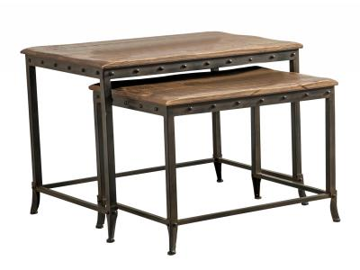 TRENTON-2PC NESTING TBL-DISTRESSED PINE