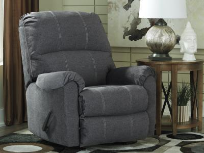 Ashley Urbino Rocker Charcoal Recliner with Pull Tab Reclining Motion by Midha's Furniture Serving Brampton, Mississauga, Etobicoke, Toronto, Scraborough, Caledon, Cambridge, Oakville, Markham, Ajax, Pickering, Oshawa, Richmondhill, Kitchener, Hamilton and GTA area