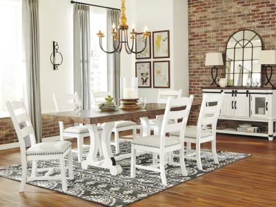 Valebeck 7 PC Dining Set by Midha's Furniture Serving Brampton, Mississauga, Etobicoke, Toronto, Scraborough, Caledon, Cambridge, Oakville, Markham, Ajax, Pickering, Oshawa, Richmondhill, Kitchener, Hamilton and GTA area