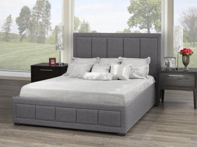 Modern Westley Queen Platform Bed with Storage by Midha's Furniture Serving Brampton, Mississauga, Etobicoke, Toronto, Scraborough, Caledon, Cambridge, Oakville, Markham, Ajax, Pickering, Oshawa, Richmondhill, Kitchener, Hamilton and GTA area
