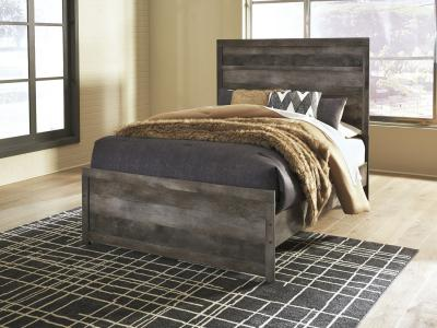 Ashley Wynnlow Queen Size Panel Bed in Rustic Gray Finish by Midha's Furniture Serving Brampton, Mississauga, Etobicoke, Toronto, Scraborough, Caledon, Cambridge, Oakville, Markham, Ajax, Pickering, Oshawa, Richmondhill, Kitchener, Hamilton and GTA area