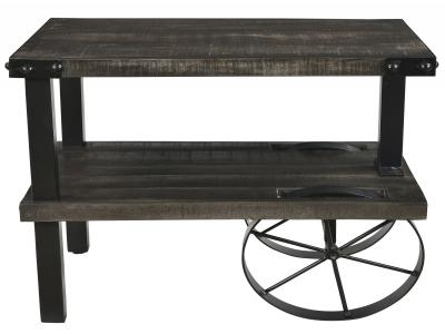 ZAHIR-ACCENT TABLE-DISTRESSED GREY