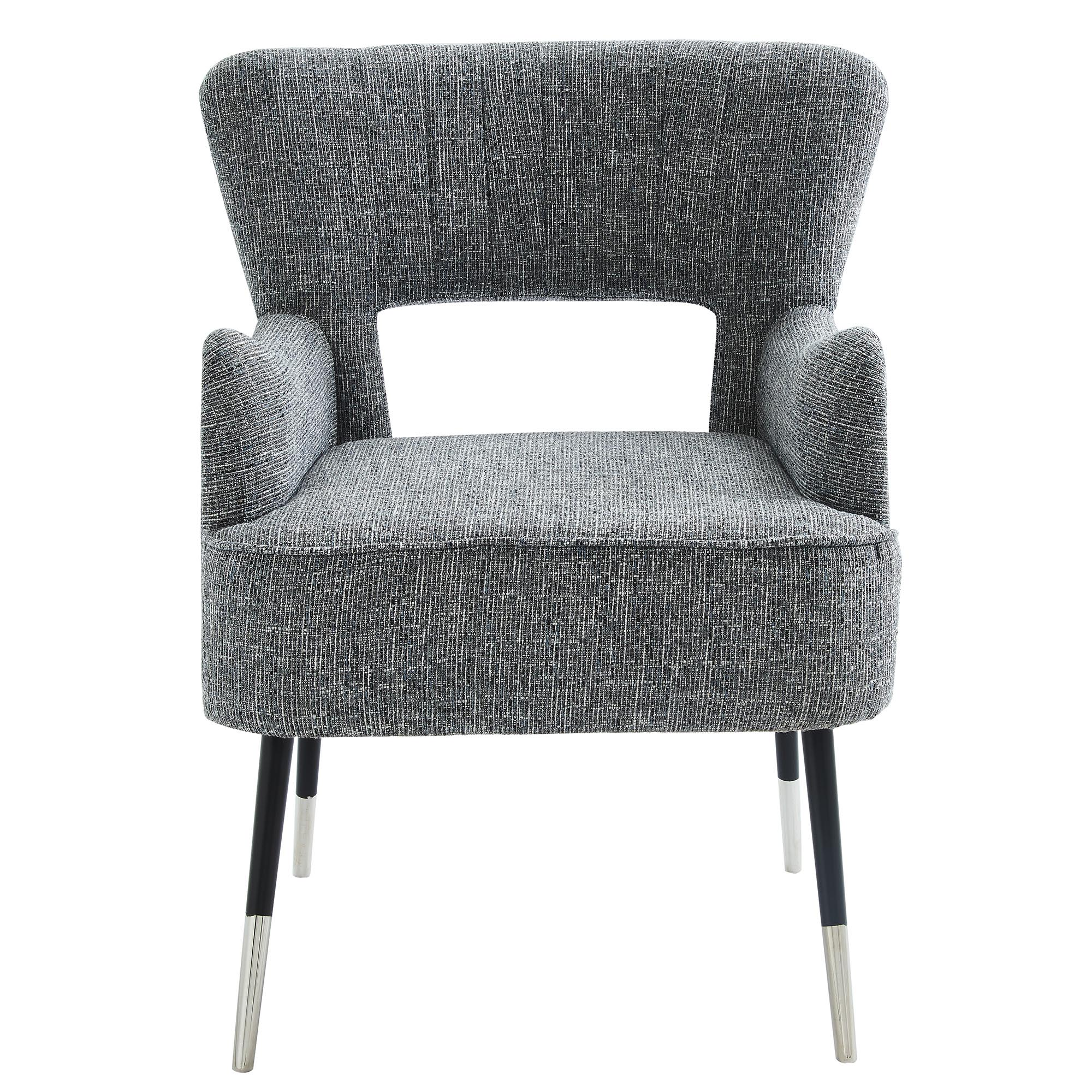 VINCE-ACCENT CHAIR-GREY BLEND, 841173032067, Accent Chairs by Midha Furniture to Brampton, Mississauga, Etobicoke, Toronto, Scraborough, Caledon, Oakville, Markham, Ajax, Pickering, Oshawa, Richmondhill, Kitchener, Hamilton and GTA area