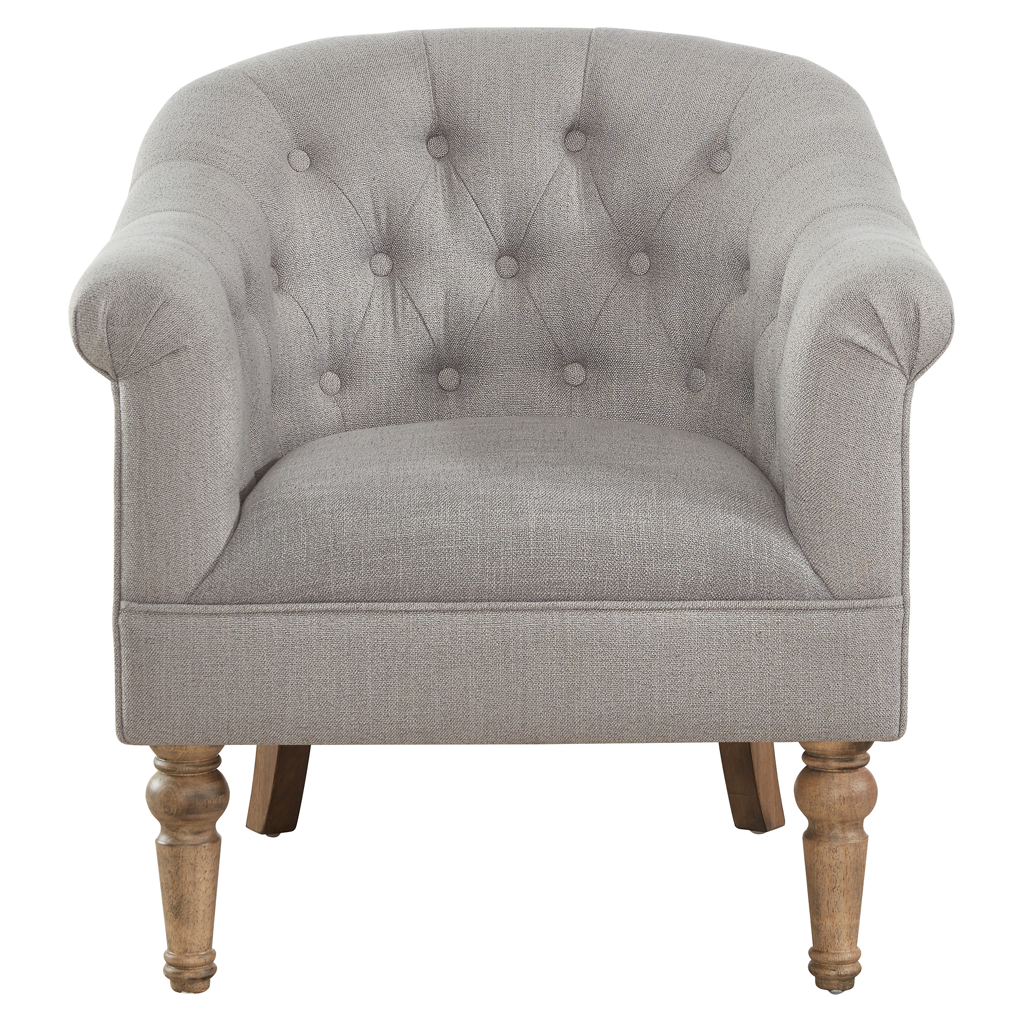 WELBECK-ACCENT CHAIR-GREY, 841173028459, Accent Chairs by Midha Furniture to Brampton, Mississauga, Etobicoke, Toronto, Scraborough, Caledon, Oakville, Markham, Ajax, Pickering, Oshawa, Richmondhill, Kitchener, Hamilton and GTA area